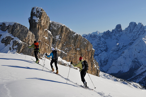 Group of ski touring