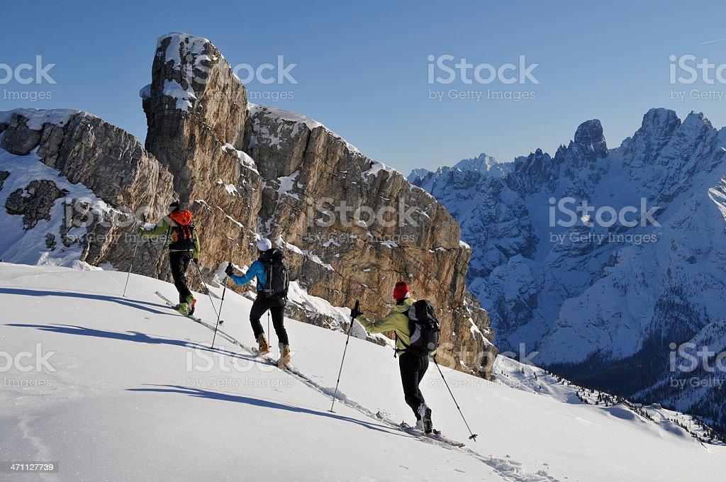 Gruppe von ski touring – Foto