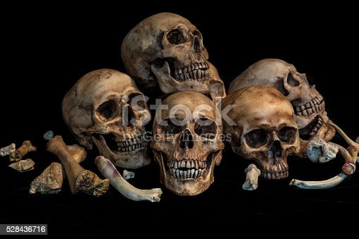istock group of skulls in genocide concept 528436716