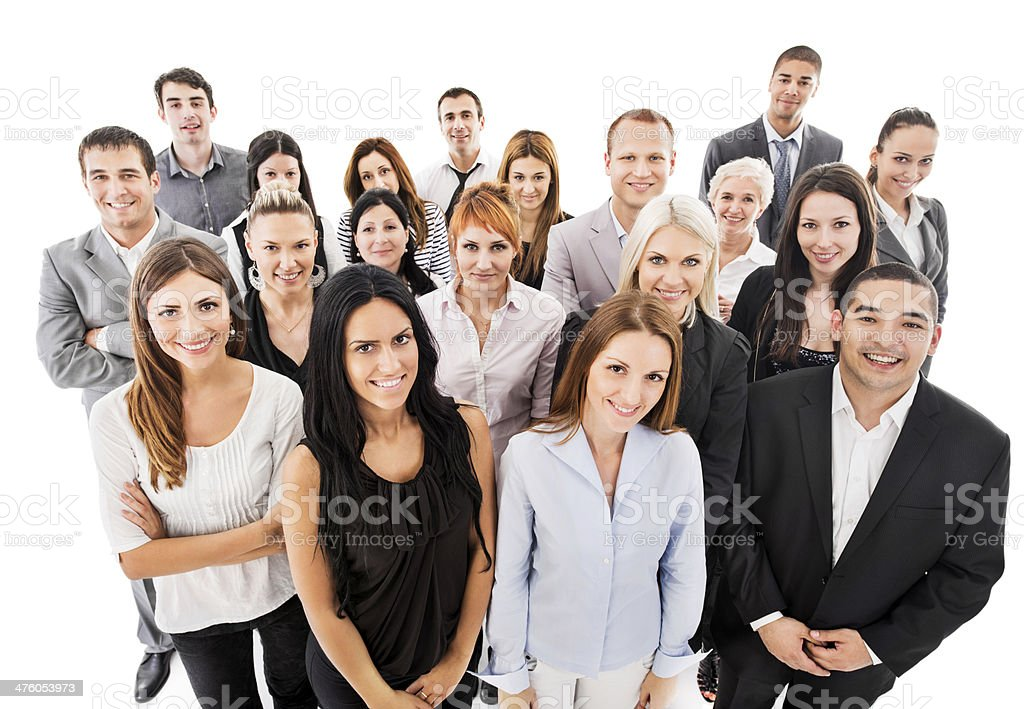 Group of smiling business people. stock photo