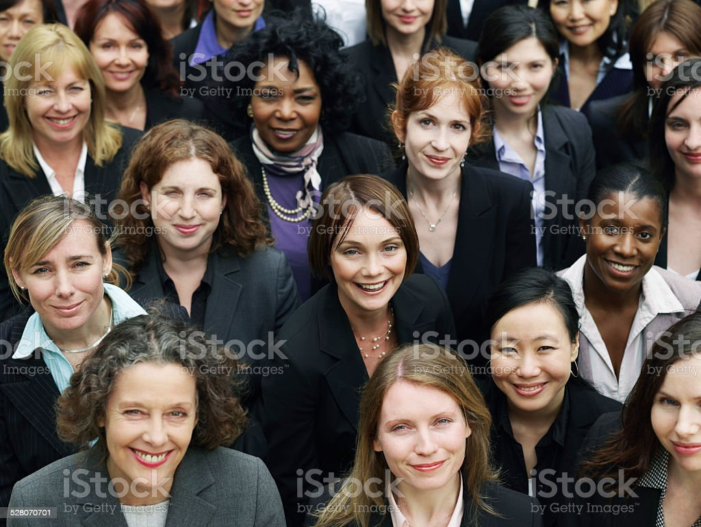Group Of Smiling Businesswomen stock photo