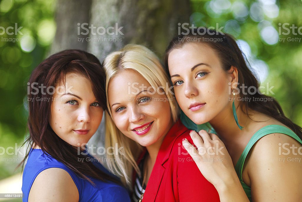 Group of smiling friends royalty-free stock photo