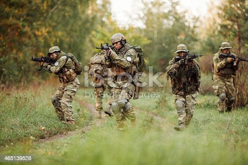 istock group of soldiers engaged in the exploration area 465139526