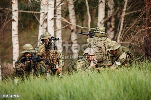 istock group of soldiers engaged in the exploration area 465139560