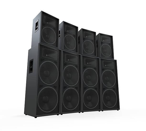 gruppo di altoparlanti - altoparlante hardware audio foto e immagini stock