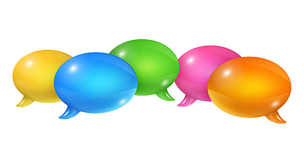 Group of speech bubbles stock photo