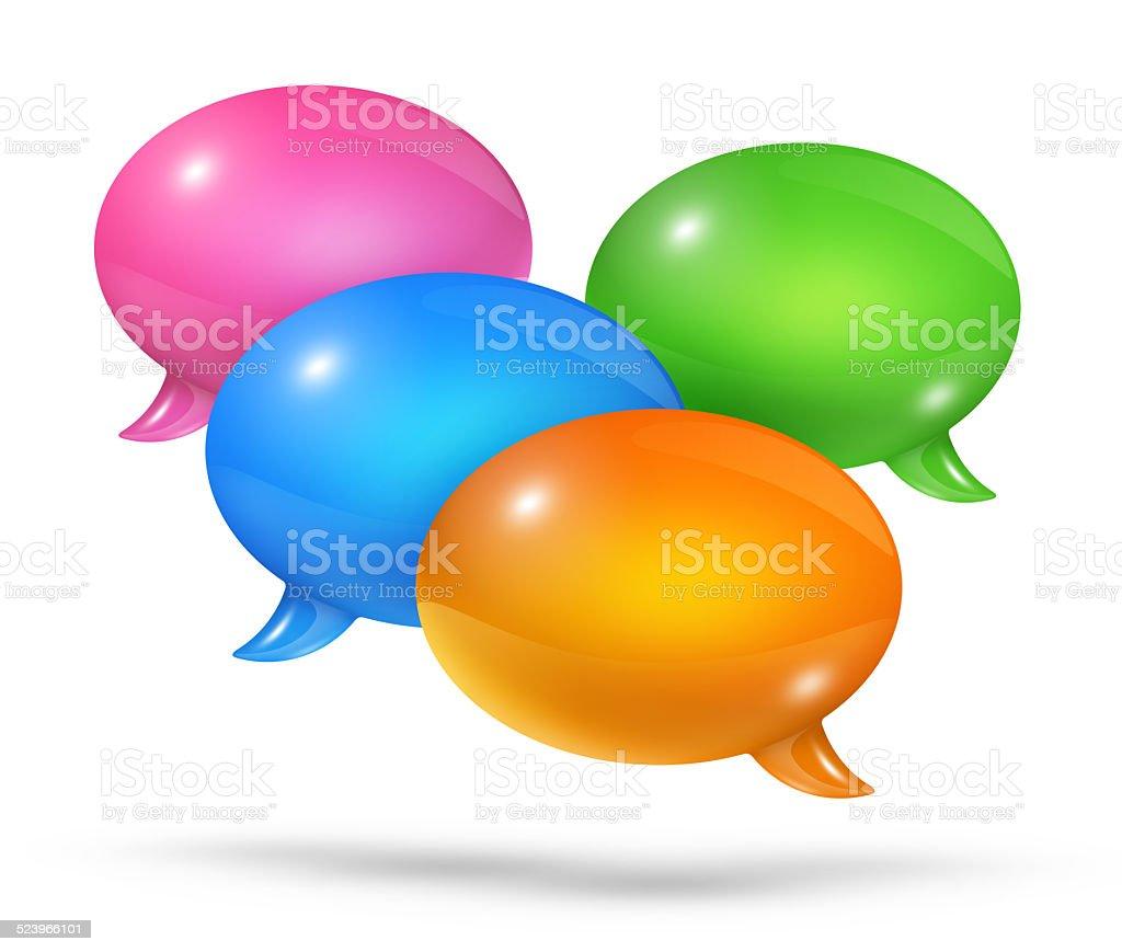 Group of speech bubbles stock photo