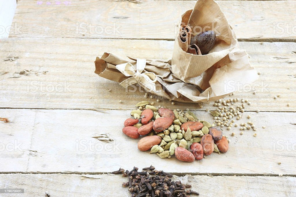 Group of spices royalty-free stock photo