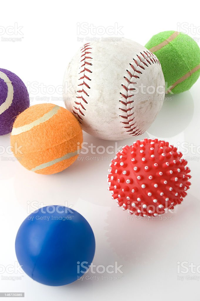 Group of Sports Game Balls royalty-free stock photo