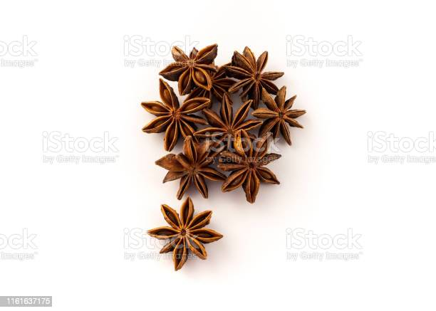 A Group Of Star Anise Ingredients For Cooking Stock Photo - Download Image Now
