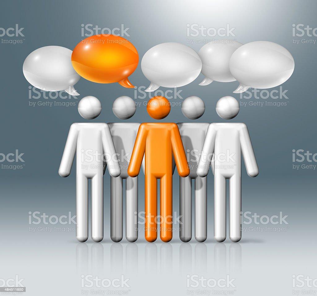 Figure Di Persone Stilizzate.Gruppo Di Figure Stilizzate Persone Con Discorso Bolle Fotografie