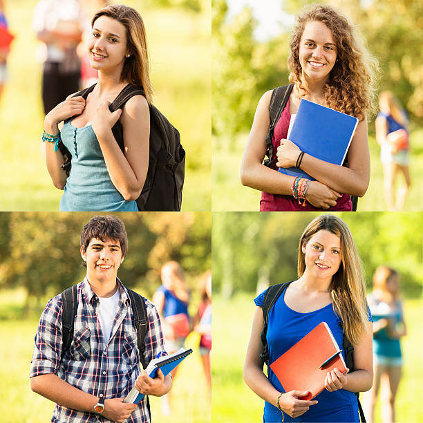 group of students in various scene - 18 23 months stock photos and pictures
