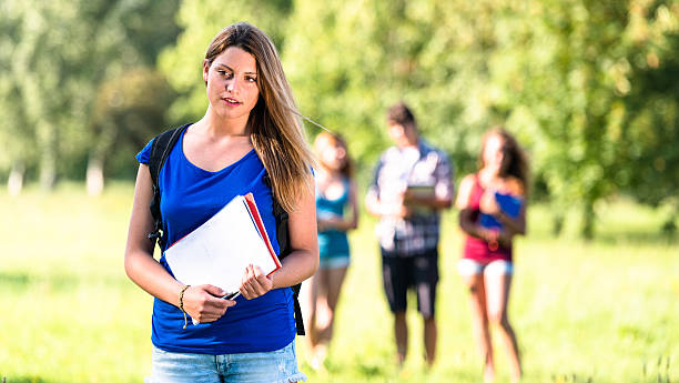 group of students on the park - 18 23 months stock photos and pictures