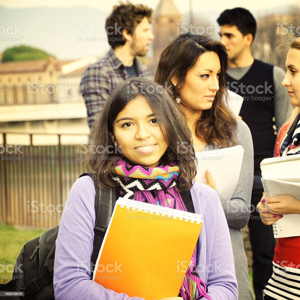 Group of Students Outdoor royalty-free stock photo
