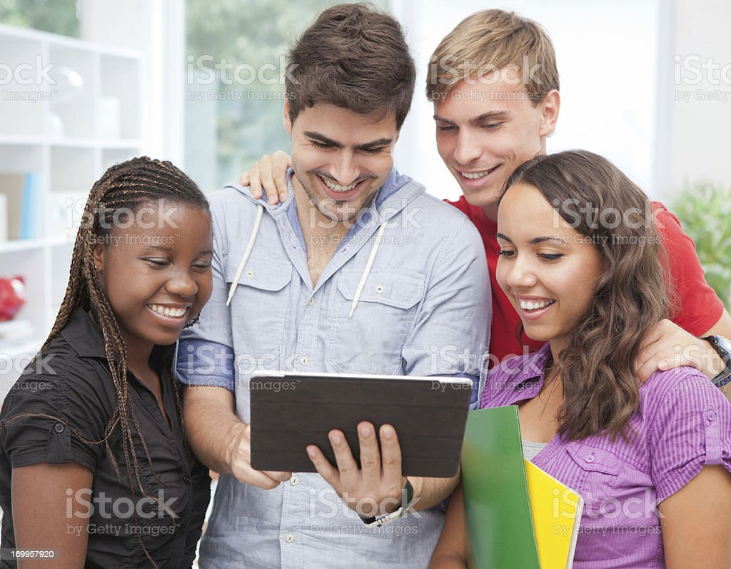 Group of students studying together. royalty-free stock photo