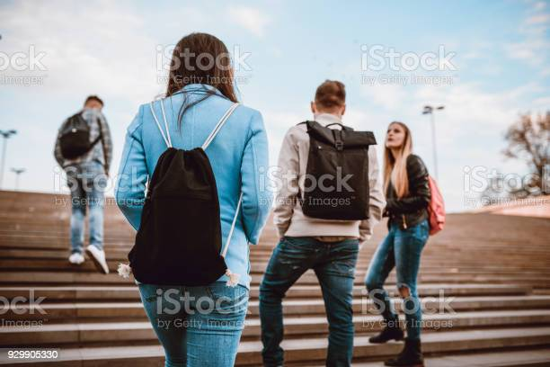 Group of students with backpacks walking to school picture id929905330?b=1&k=6&m=929905330&s=612x612&h=1akb8snbvccmzu8rcrcyn6x6avmfszshmh1zqrok9qk=