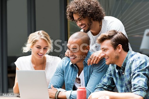 544356862 istock photo Group of students working 544357234