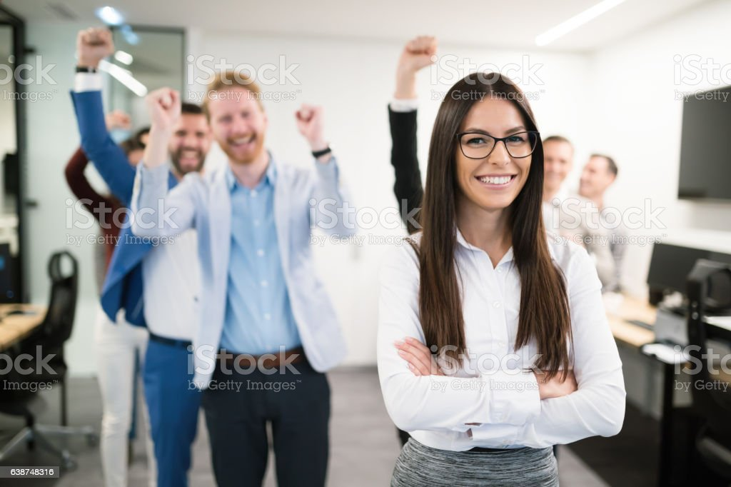 Group of successful business people happy in office – Foto