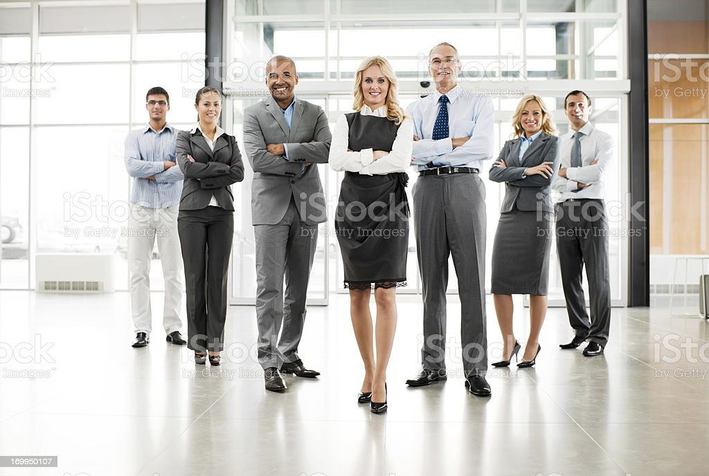 Group of successful businesspeople royalty-free stock photo