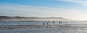 istock group of surfers enjoy catching wves on SUP paddleboards at Milfontes beach 1292863947