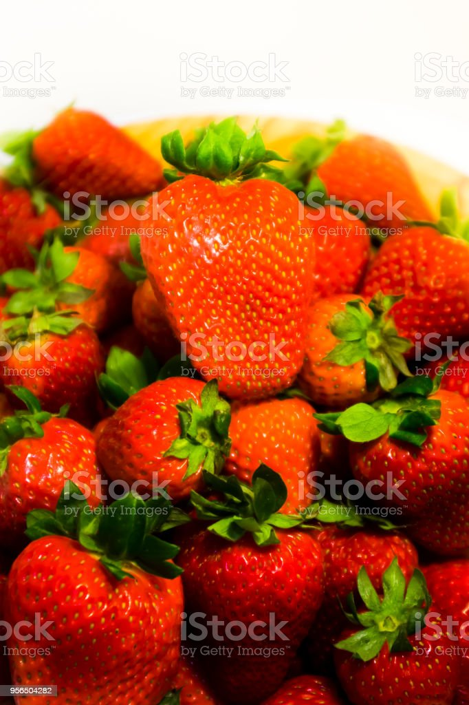 Gruppe von leckeren frischen Erdbeeren - Lizenzfrei Beere - Pflanzenbestandteile Stock-Foto