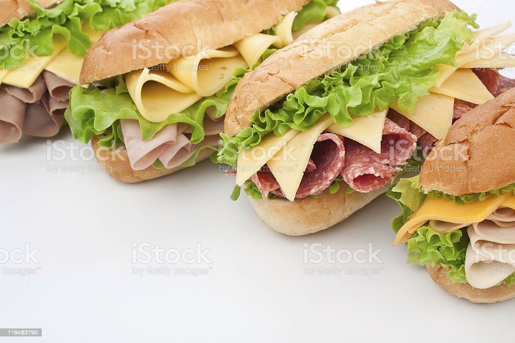 group of tasty  sandwiches stock photo