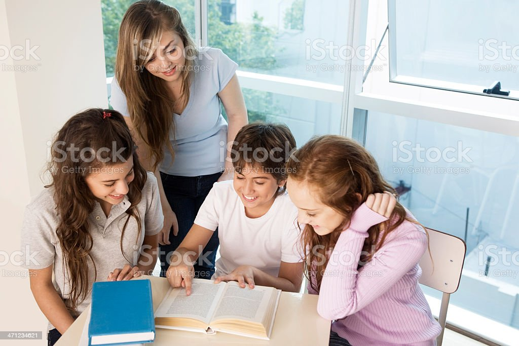 Group of Teen Students royalty-free stock photo