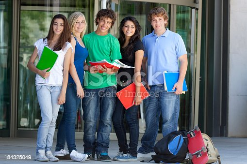 istock A group of teenagers getting ready with their back to school 184325049
