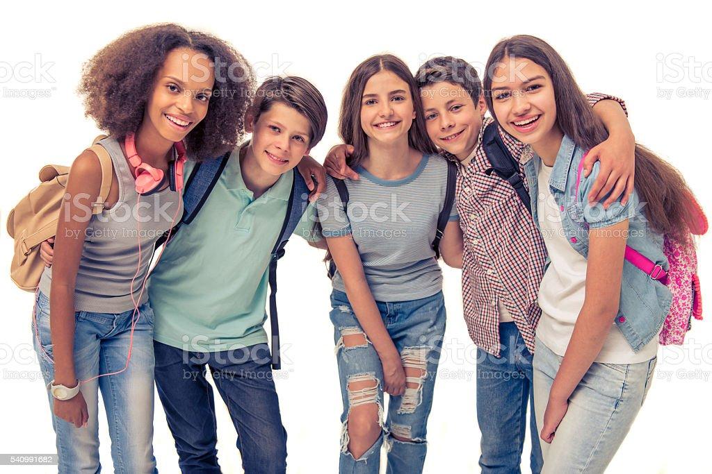 Groupe d'adolescents - Photo