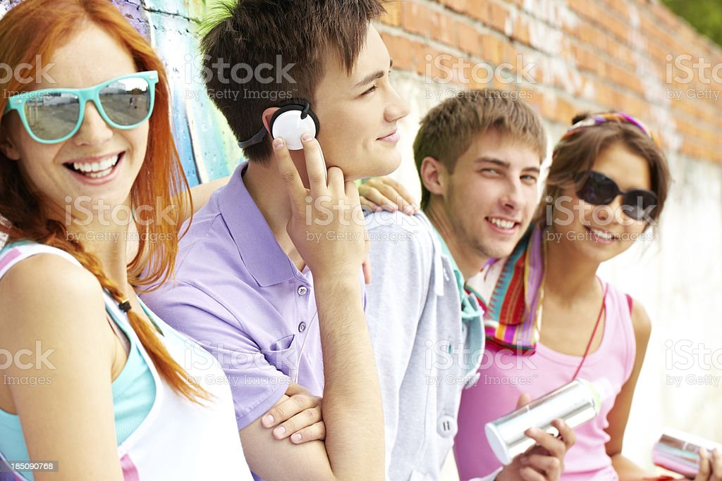 Group of teens royalty-free stock photo