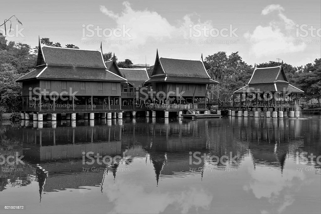 Group of Thai house foto stock royalty-free