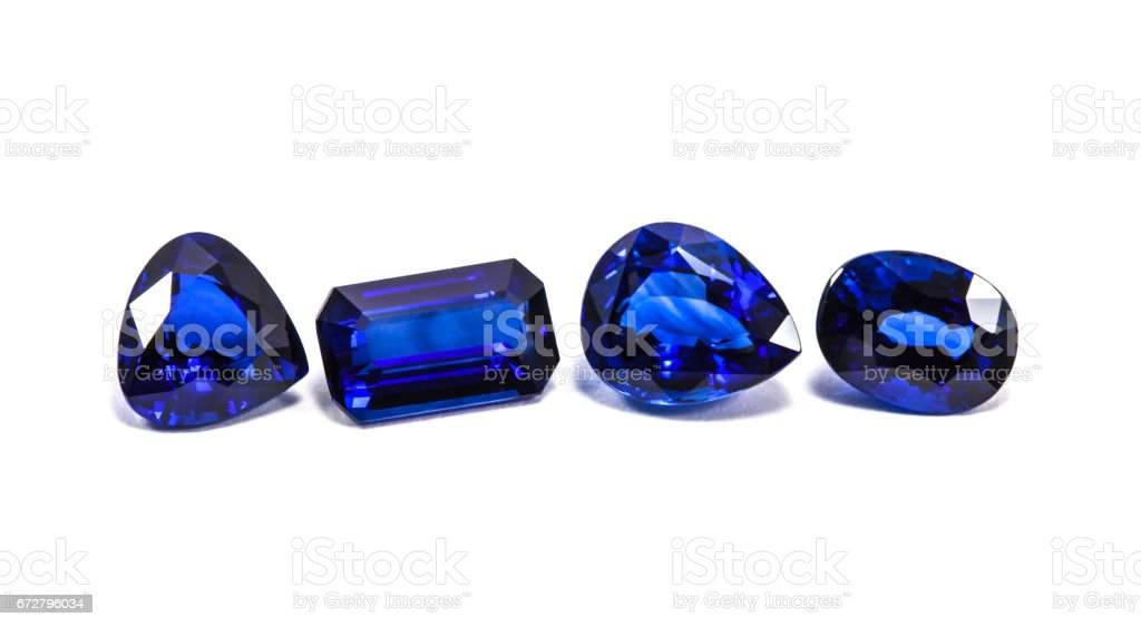 group of the blue sapphires stock photo
