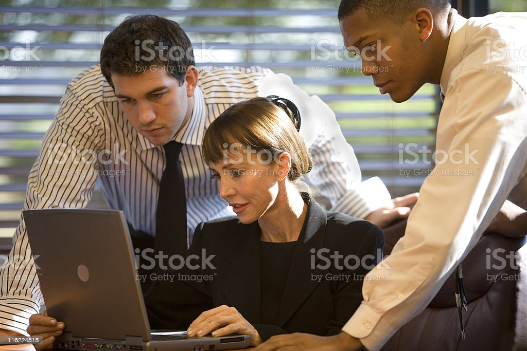 Group Of Three Business People Working royalty-free stock photo