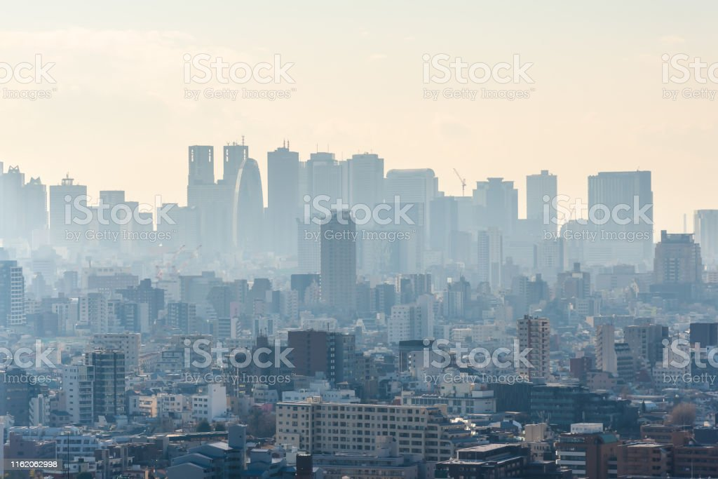 Group of Tokyo skyscraper of Tokyo city view for business and...