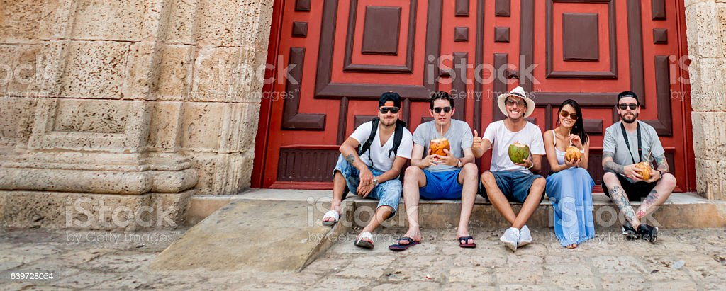 Group of tourists in Cartagena – Foto