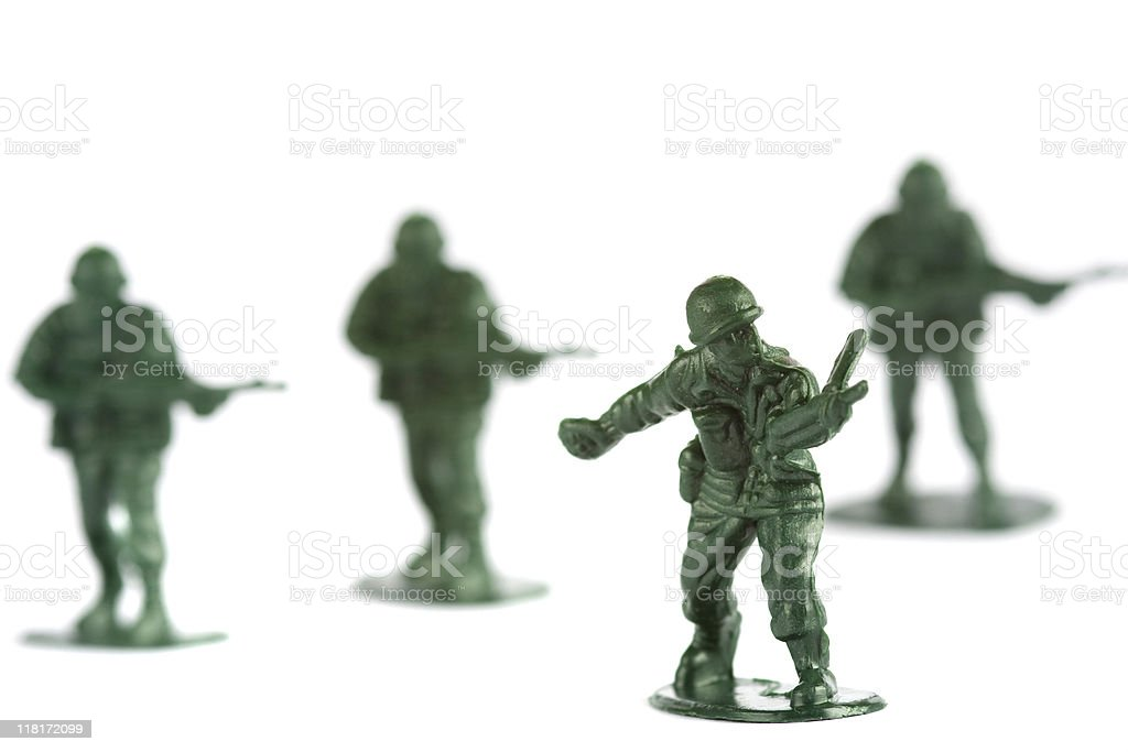 Group of Toy soldiers royalty-free stock photo