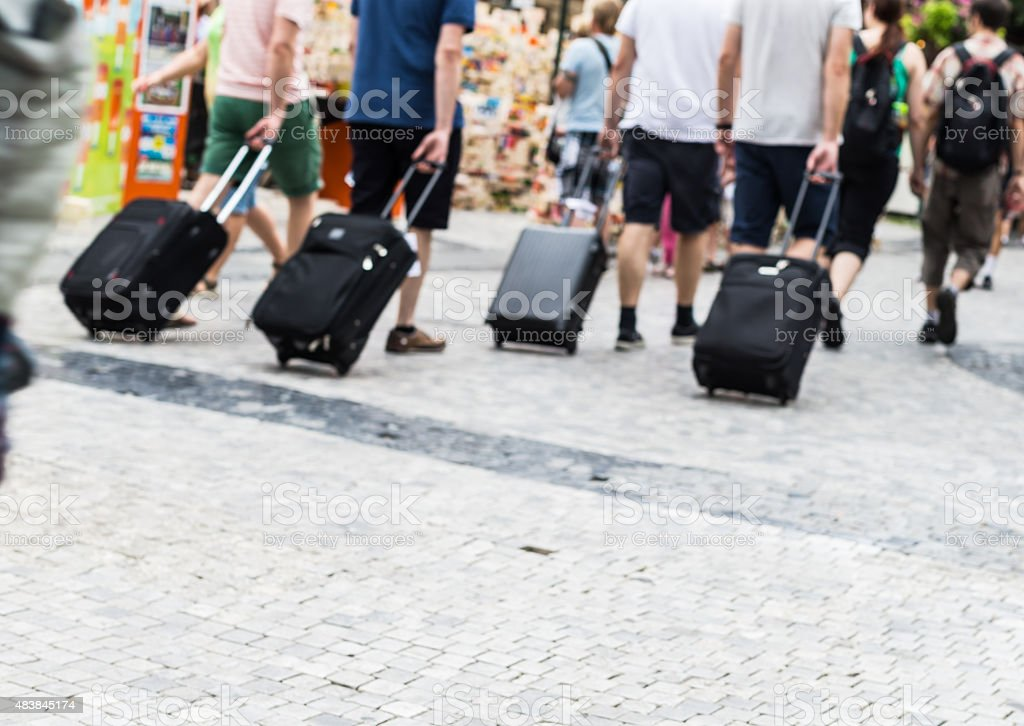 Group of Travelers stock photo