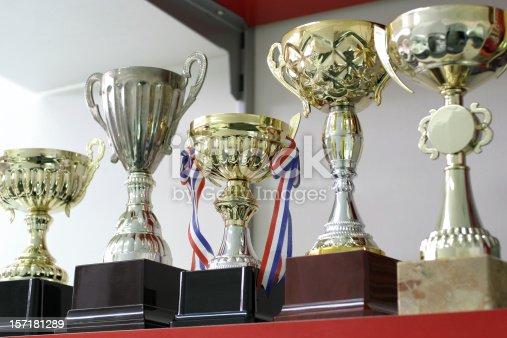 istock Group of Trophies 157181289