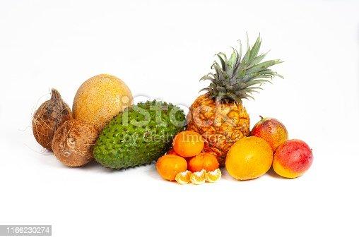 Still life of healthy fruits
