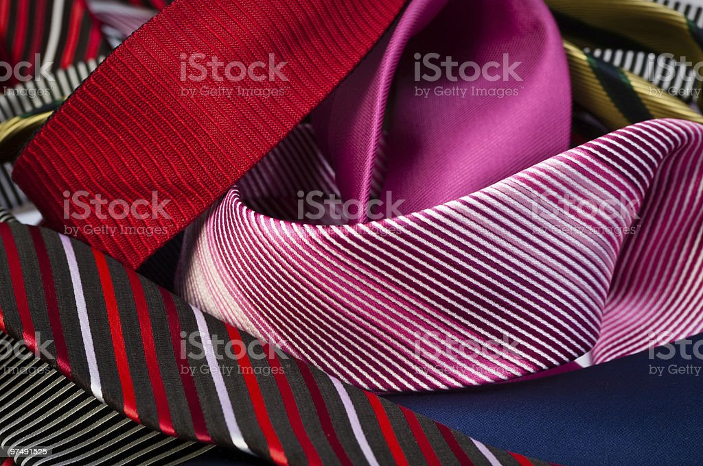 Group of unfolded neckties royalty-free stock photo
