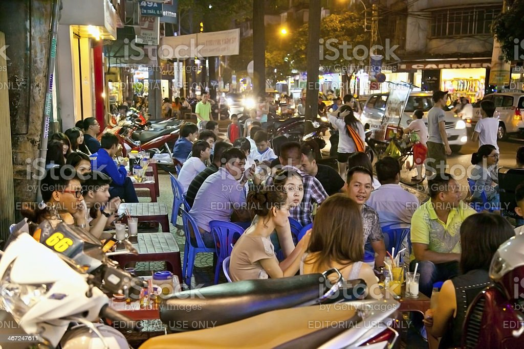 A group of unidentified youth enjoying in Saigon\'s night life on Nov...