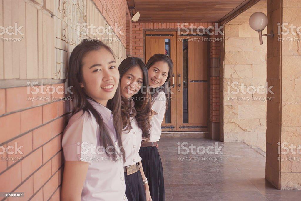 group of university student stock photo