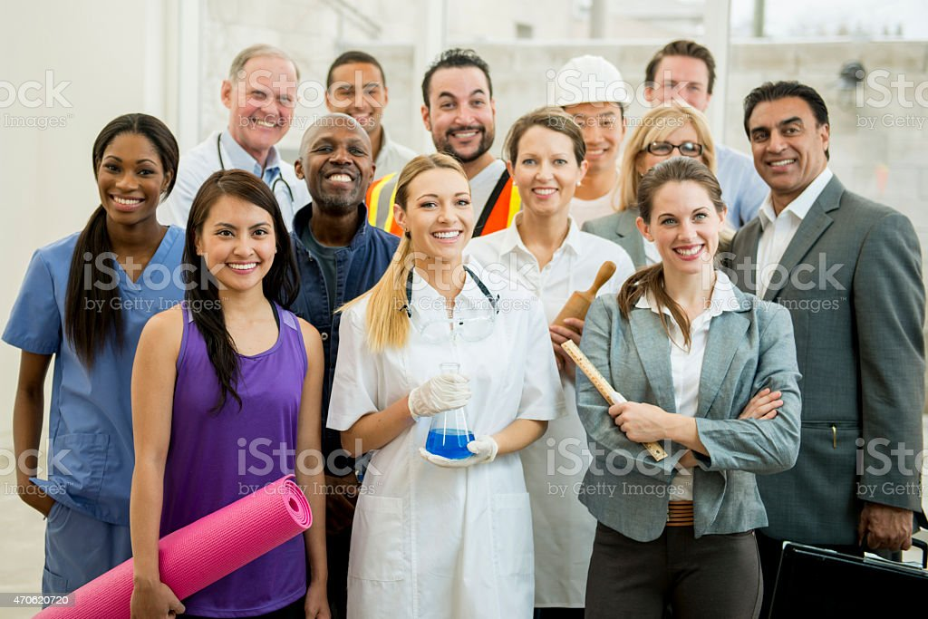 Group of Varied Professionals stock photo
