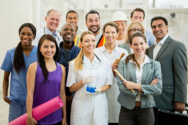 Groupe de différents professionnels - Photo
