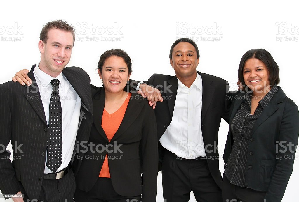 Group of Volunteers royalty-free stock photo