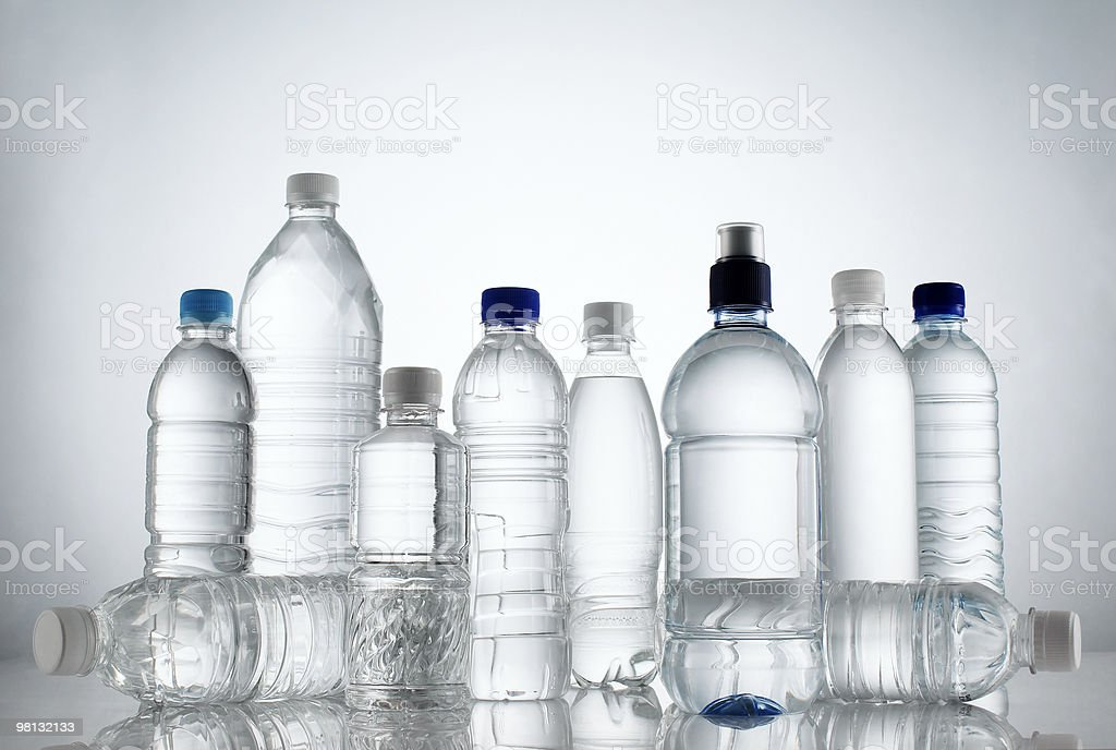 Group Of Water Bottle royalty-free stock photo