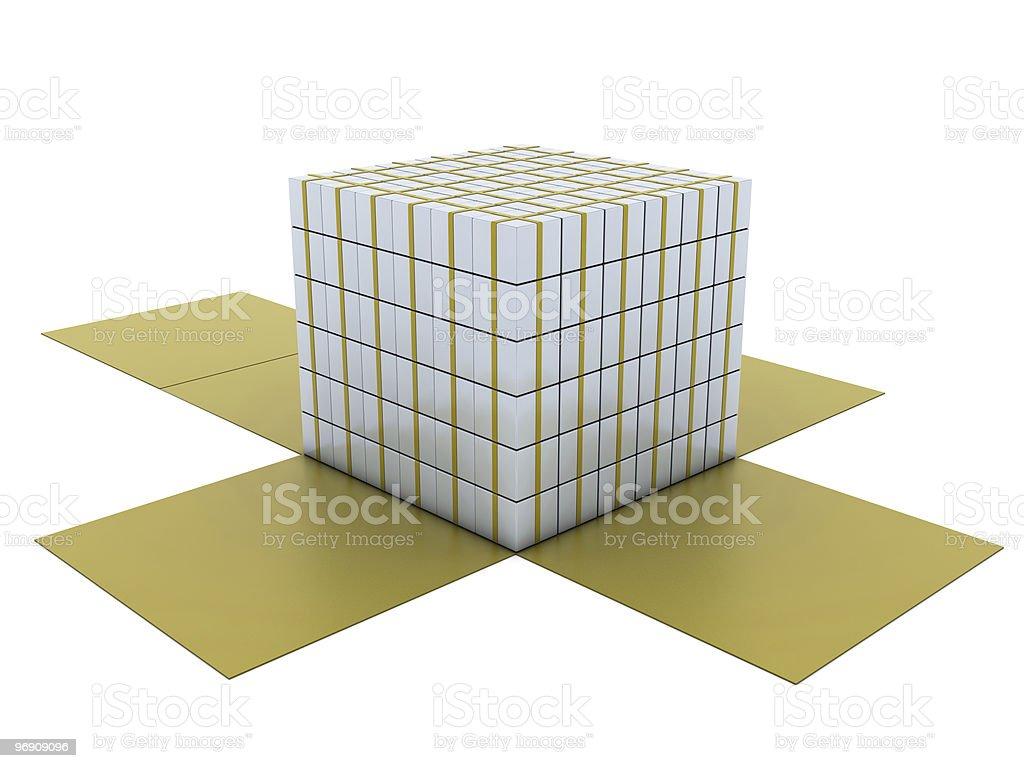 Group of white giftboxes royalty-free stock photo