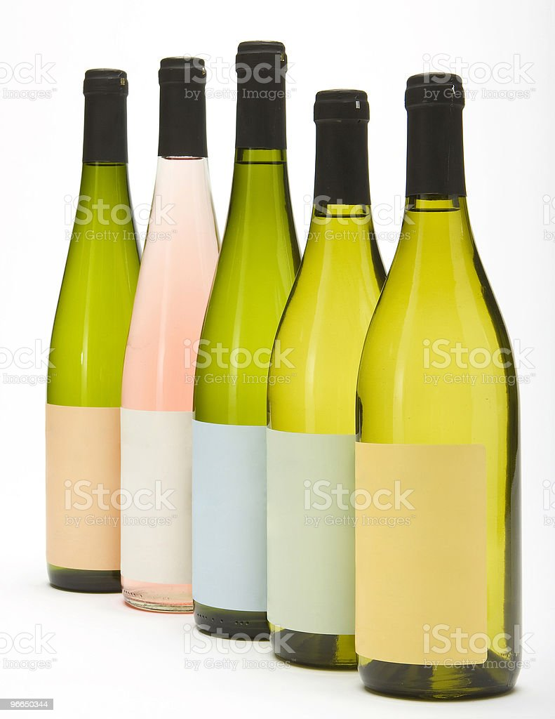 Group of Wine Bottles royalty-free stock photo