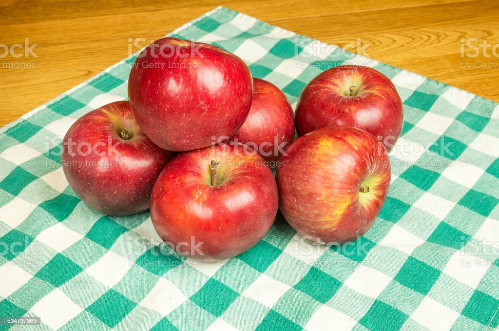 Group of Winesap apples stock photo