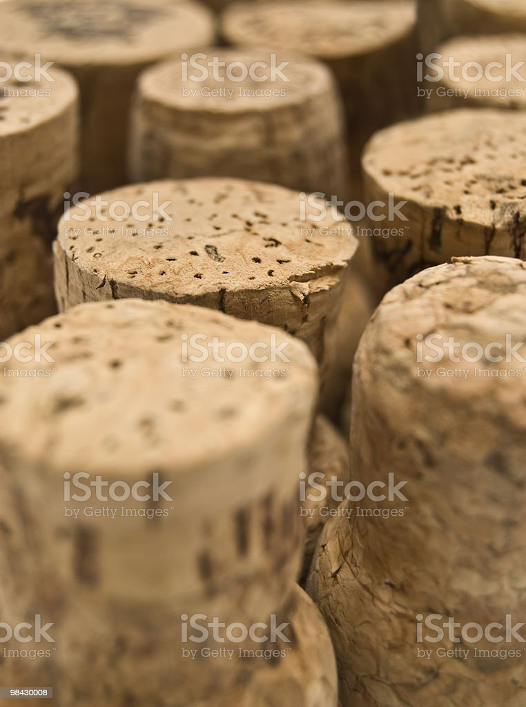 group of winy corks royalty-free stock photo